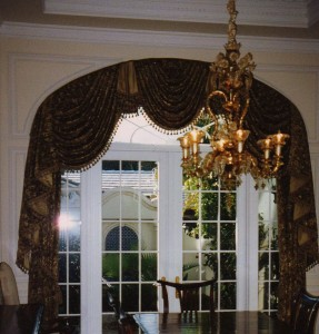 An Arch Window Treatment for a client in Boca Raton