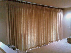 Rod drapes for a client in Boca Raton.