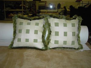 pillows for a client in Boca
