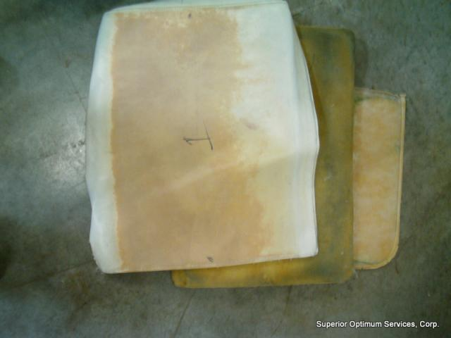 worn out marine upholstery