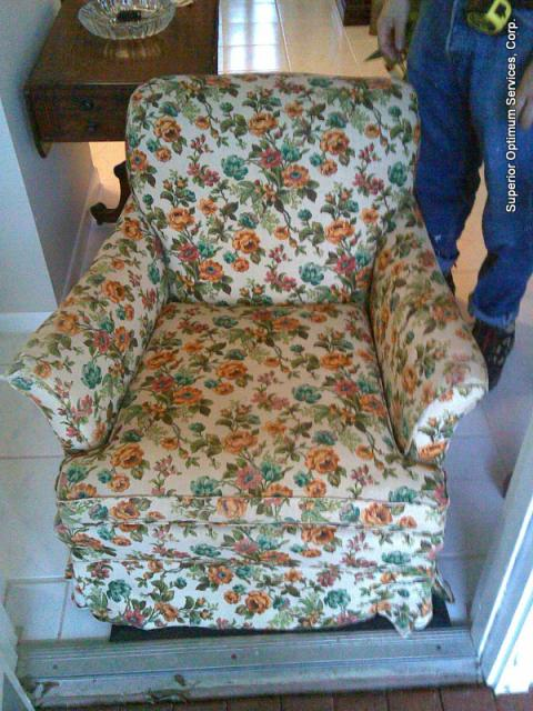 before upholstery chair