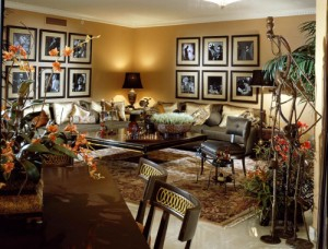 A living room designed by Renee Finberg -featured in Palm Beach Illustrated