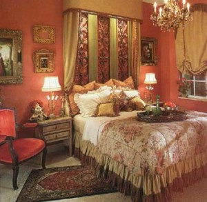 A Boca Raton bedroom designed by interior designer Renee Finberg