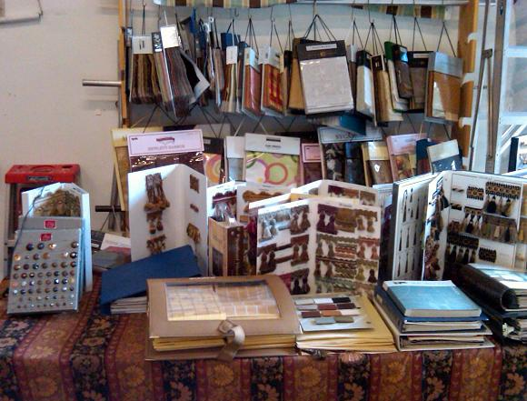 Fabric books and trim books, etc.